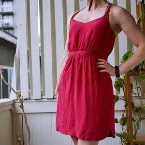 Silk Madewell hot pink mini dress